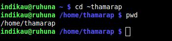 cd - change home directory