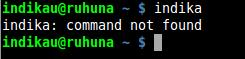 Unknown Command Error