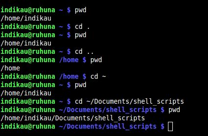 cd - using shortcut symbols