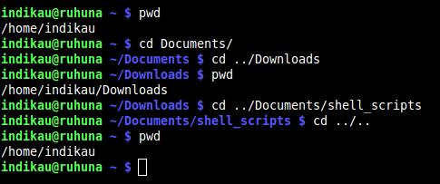 cd - using multiple ..