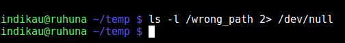 Redirect to /dev/null